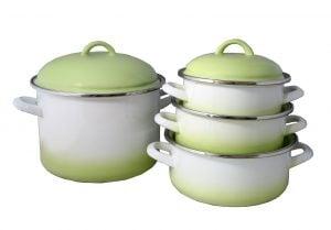 Zöld árnyalt edénycsalád